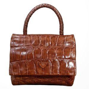 Vintage Joop! Moc Croc Handmade Leather Handbag